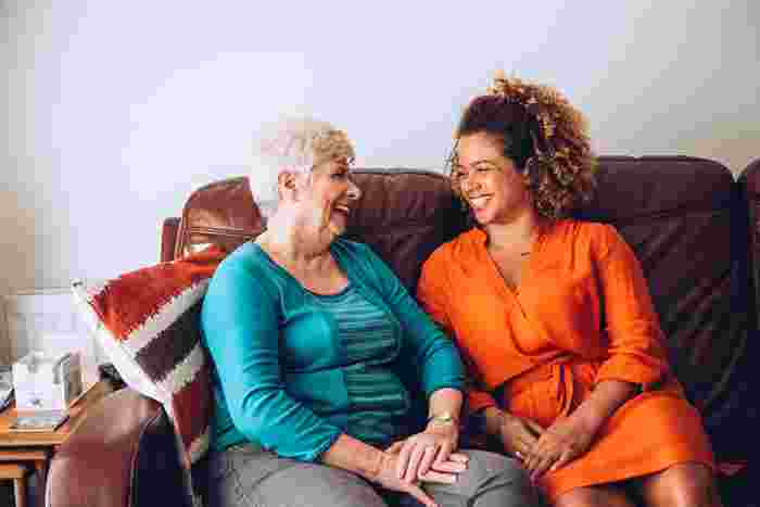 two people in a home, relationships between housing association and tenant