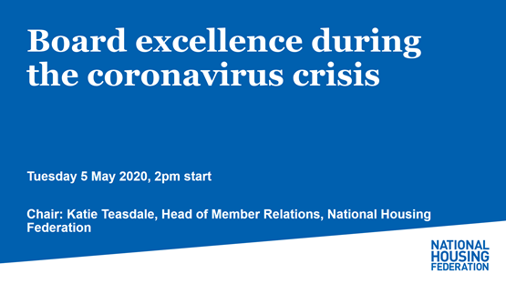 Board excellence during the coronavirus crisis
